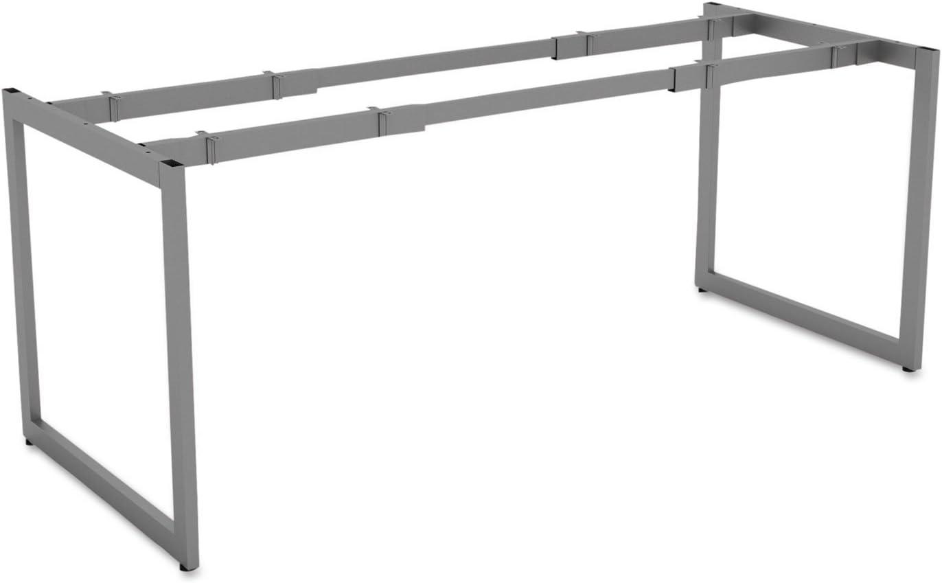Alera LSTB30GR Open Office Desk Series Adjustable O-Leg Desk Base, 30-Inch Deep, Silver