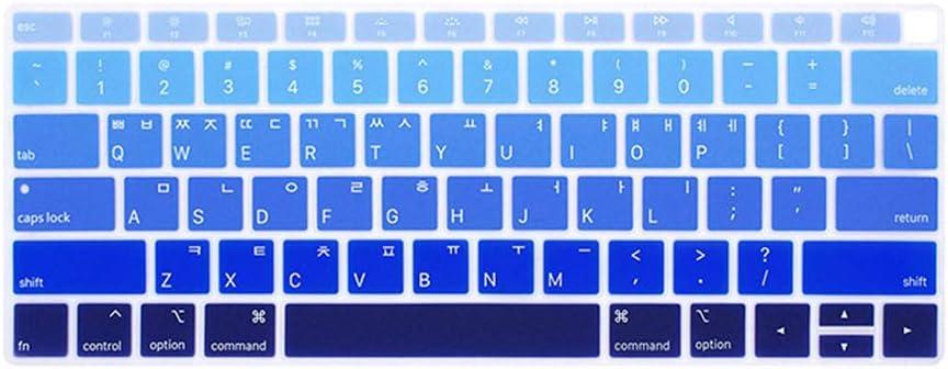 Korean Laptop Keyboard Protective Film Waterproof forMacbook Air 13 A1932 Notebook Keyboard Cover Dustproof Film Silicone U.S,Purple