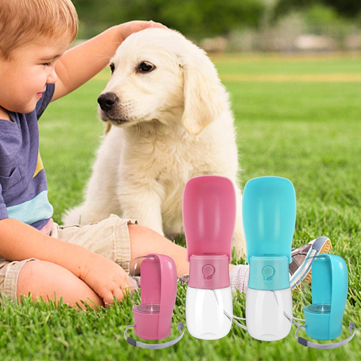 for Cat,Dogs and Other Animals Water Cup Leakproof Pet Water Bottle for Travel,BPA Free Water Bottle TOARTI Dog Water Bottle,Foldable Pet Portable Water Dispenser Dogs 10 Oz