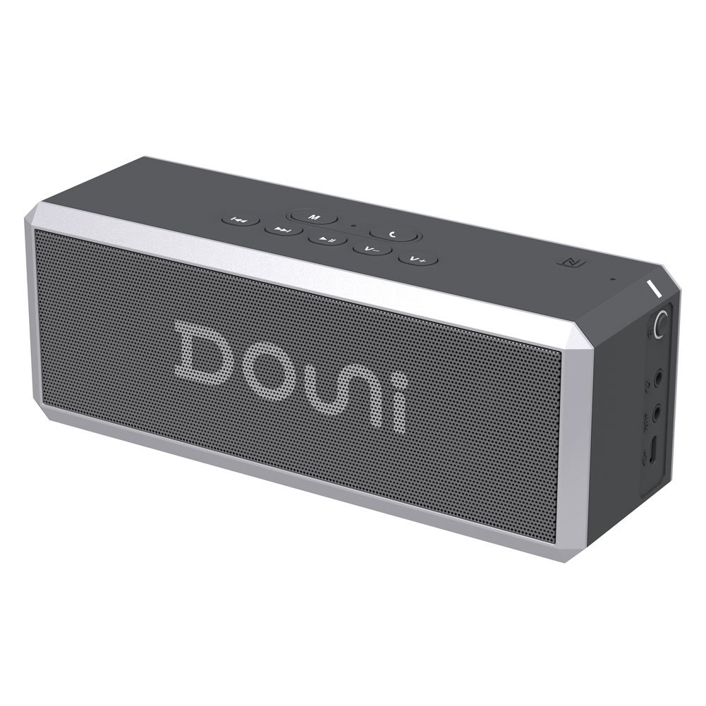 Douni (A7) 20W Portable Bluetooth Wireless Stereo Speaker with Enhanced Bass, LED Button Backlighting,Support Handsfree Calling, NFC
