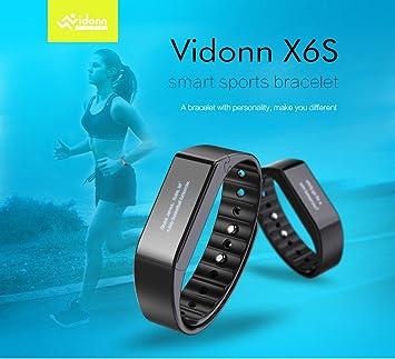 Vidonn X6S Bluetooth Fitness Tracker Smart Wristband - Black by
