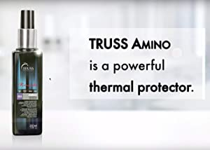 TRUSS Professional Amino Miracle - Heat Protectant Spray for Hair, Seals Cuticle, Repairs Dry Damaged Hair, Frizz Control, Detangles, Adds Shine, Color Protection, Anti-Aging