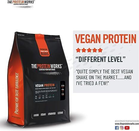 Vegan Protein Powder   100% A Base de Plantas   Sin Gluten   Ecológico   Bajo en Grasas  THE PROTEIN WORKS   Sin Sabor   500g