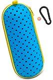 プールバッグ ゴーグルケース 水泳 ミラーゴーグル スイミングゴーグル スイムゴーグル 水泳 競泳用 収納 くもり止めホルダー付き カラビナ付き