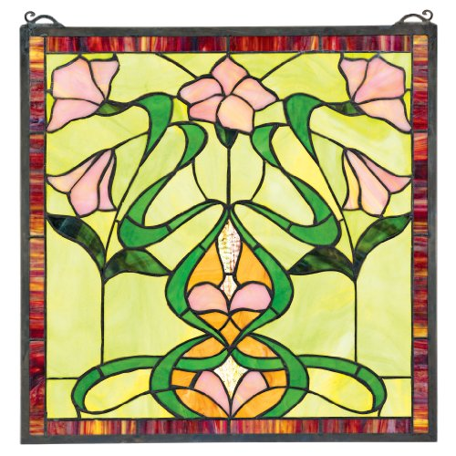 Stained Glass Panel - Nouveau Lily Stained Glass Window