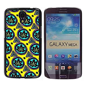 Impact Case Cover with Art Pattern Designs FOR Samsung Galaxy Mega 6.3 Wallpaper Cannabis Weed Green Leaf Plant Betty shop