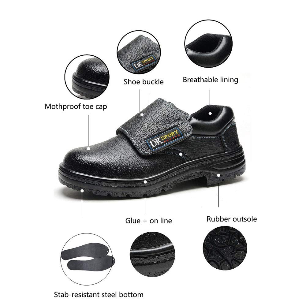 Safety Work Shoes N.Y.L.A Fireproof Electric Welding Work Shoes Steel Toe Cap Anti-Puncture Protective Tooling Shoes Suitable for Construction Sites Welding ZDDAB