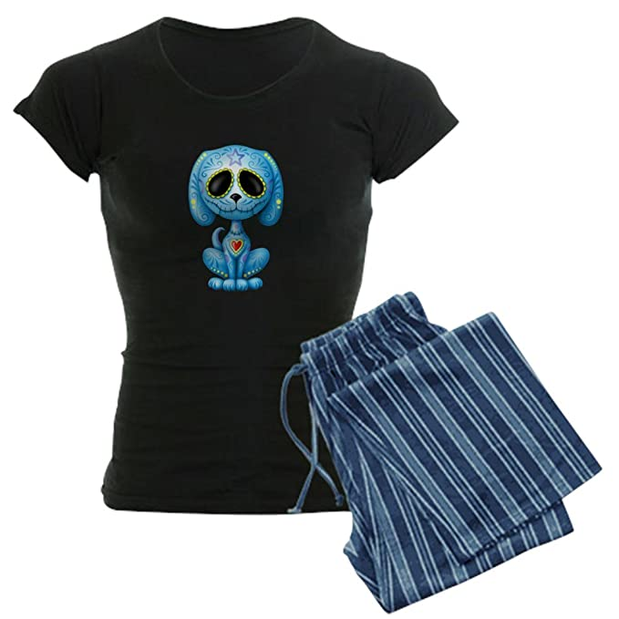8143c8b1d CafePress - Blue Zombie Sugar Skull Puppy Pajamas - Womens Pajama Set:  Amazon.ca: Clothing & Accessories