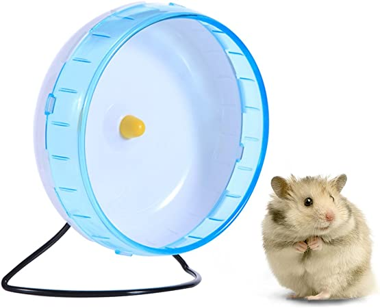 Hamster Wheel 8 3 Inches Durable Exercise Running Wheel Silent Spinner For Gerbils Hamsters Mice Chinchilla And Other Small Animals Stand With Removable Shaft Blue Amazon Ca Pet Supplies