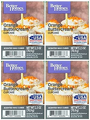 Better Homes and Gardens Orange Buttercream Cupcake Wax Cubes - 4-Pack