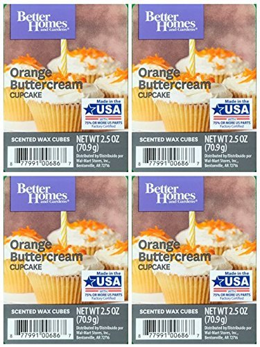Orange Wax - Better Homes and Gardens Orange Buttercream Cupcake Wax Cubes - 4-Pack