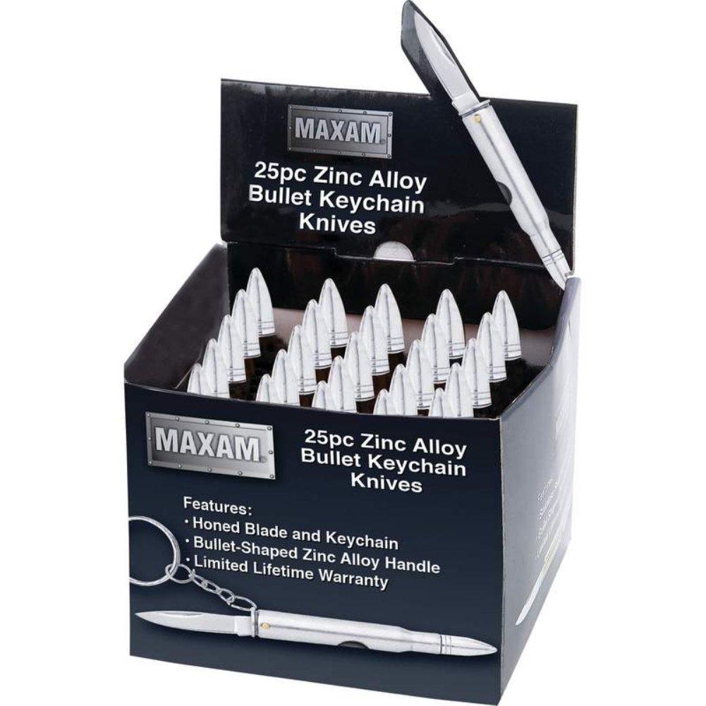 Amazon.com: Maxam bala de plata llavero cuchillo: Kitchen ...