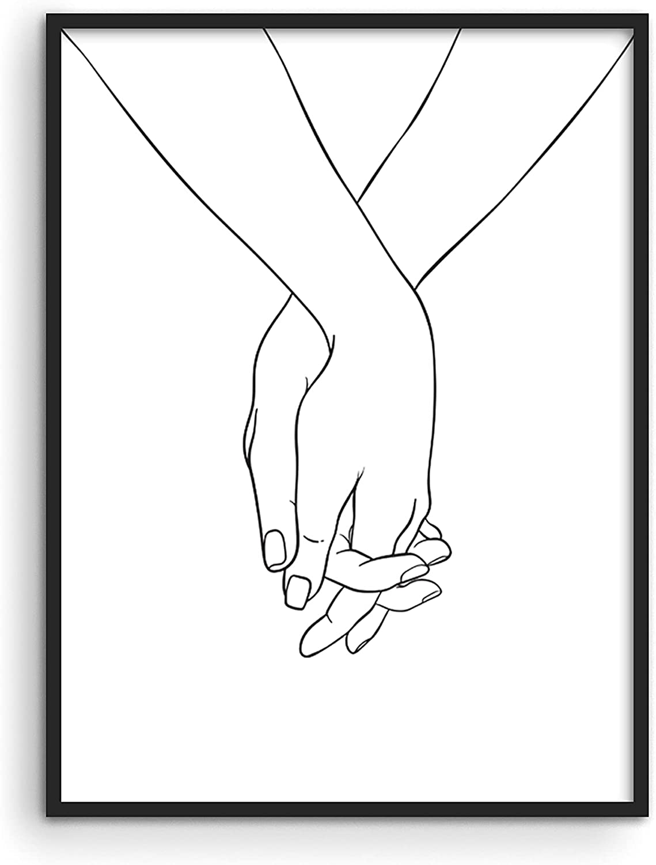 "Line Art Wall Decor Abstract Art - By Haus and Hues | Minimalist Wall Art Line Art Picasso Line Drawing Modern Boho Decor Boho Prints Minimalist Line Art | UNFRAMED Black Face Collage 12"" x 16"""