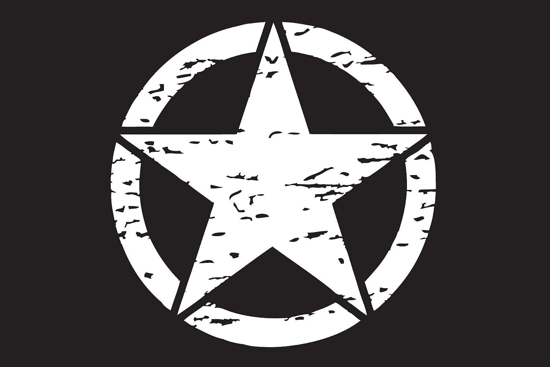 Distressed Army Star Premium Vinyl Decal