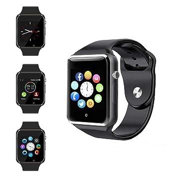 Smart Watch, Reloj Deportivo Smart Watch Fitness Tracker con podómetro Sleep Analysis Pantalla táctil de 1,54 Pulgadas, cámara, SMS Facebook Vibrador ...