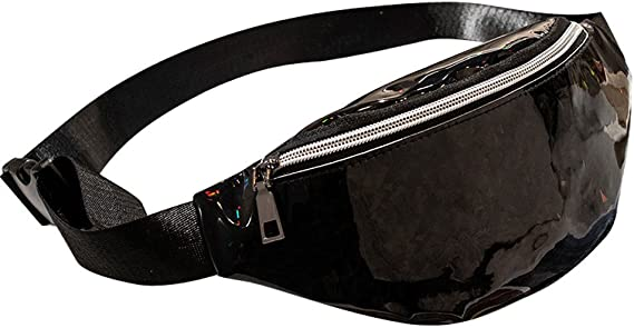 Hip Bag FREE SHIPPING Black With White Polka Dots Women and Teen Girls Hip Pouch Fanny Pack