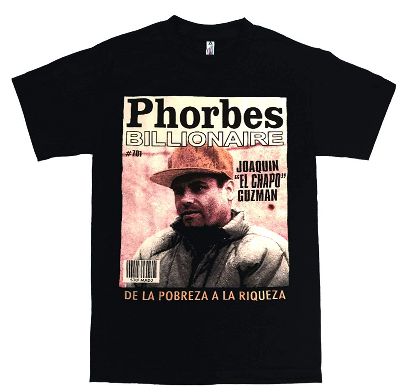 9a6d59d2b2a Latino style joaquin guzman loera phorbes billionare el chapo shirt black  at amazon mens clothing store