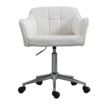 Pleasing Swivel Office Desk Chair Ergonomic Modern Accent Farbic Home Task Chair With Armrest Cream Gmtry Best Dining Table And Chair Ideas Images Gmtryco
