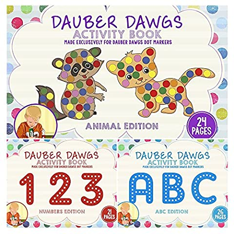 Dauber Dawgs 3 Pack Activity Sheets for Dauber Dawgs Markers - Mini Bubble Bucket