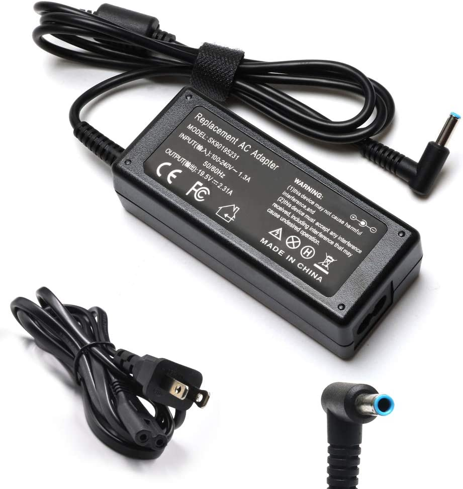 45W Adapter Charger Laptop for HP Pavilion x360 15-f222wm 15-f211wm 15-f272wm 15-f233wm 15-f387wm, HP Spectre x360 15-f010wm 15-f024wm 15-f009wm 15-n013dx 15-f305dx 15-f162dx 15-f039wm Power Cord