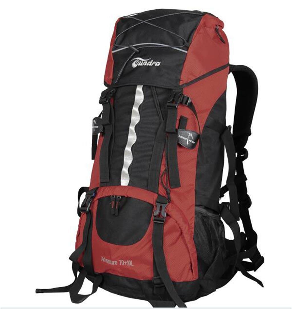 ハイキングバッグ 男性と女性のためのバッグを登山70L80L肩がレインカバーとバッグを旅行します ハイキングバックパック (色 : Dark 赤, サイズ さいず : 70L+10L) Dark 赤 70L+10L