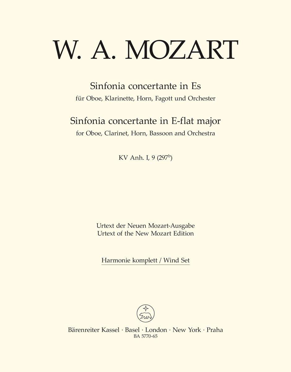Sinfonia Concertante en mi bemol mayor KV ANH. I, 9 (297B): para ...