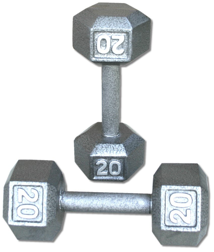 ペア20 lb。鋳鉄六角ダンベル   B003544SPG