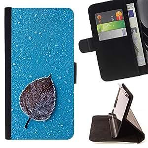 Momo Phone Case / Flip Funda de Cuero Case Cover - Iced Leaf;;;;;;;; - Samsung Galaxy S6 Edge Plus / S6 Edge+ G928