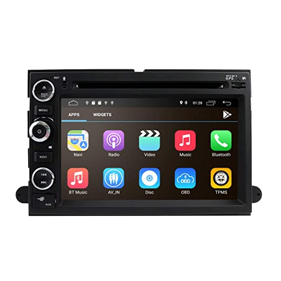 Android 8 1 2GB RAM Fit f or Ford F150 F250/350/Edge/Fusion/Mustang in Dash  DVD Player GPS Navigation Stereo Radio BT Steering Wheel Ctrl WiFi Support