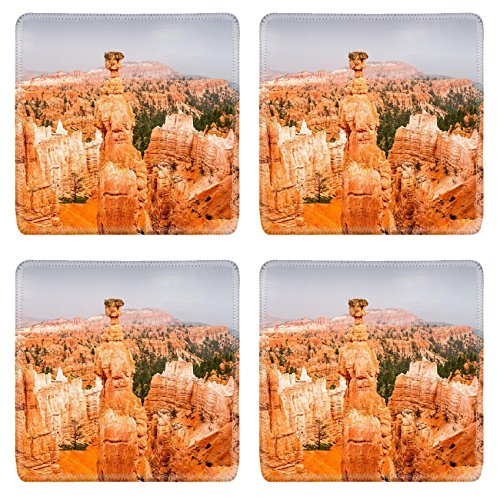 Luxlady Natural Rubber Square Coasters IMAGE ID 30722595 Vista of colorful sandstone pinnacles and spires in Bryce Canyon N P in Utah