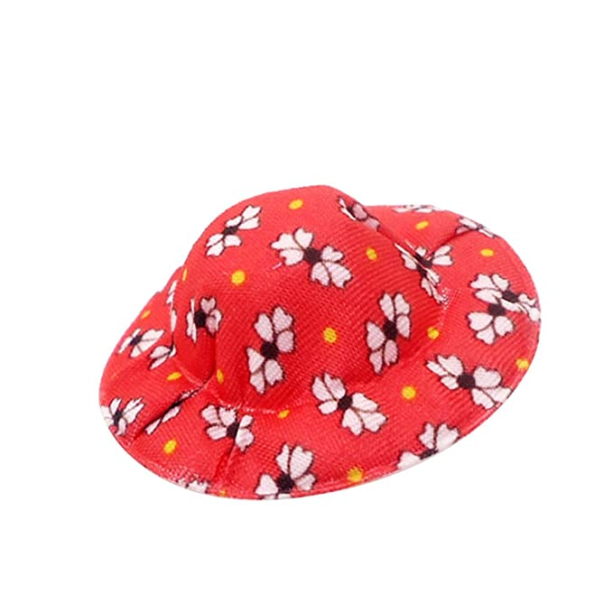 2e1cf691821e Baoblaze Trendy Vintage Round Bowler Doll Hat Caps 1 12 Doll ...