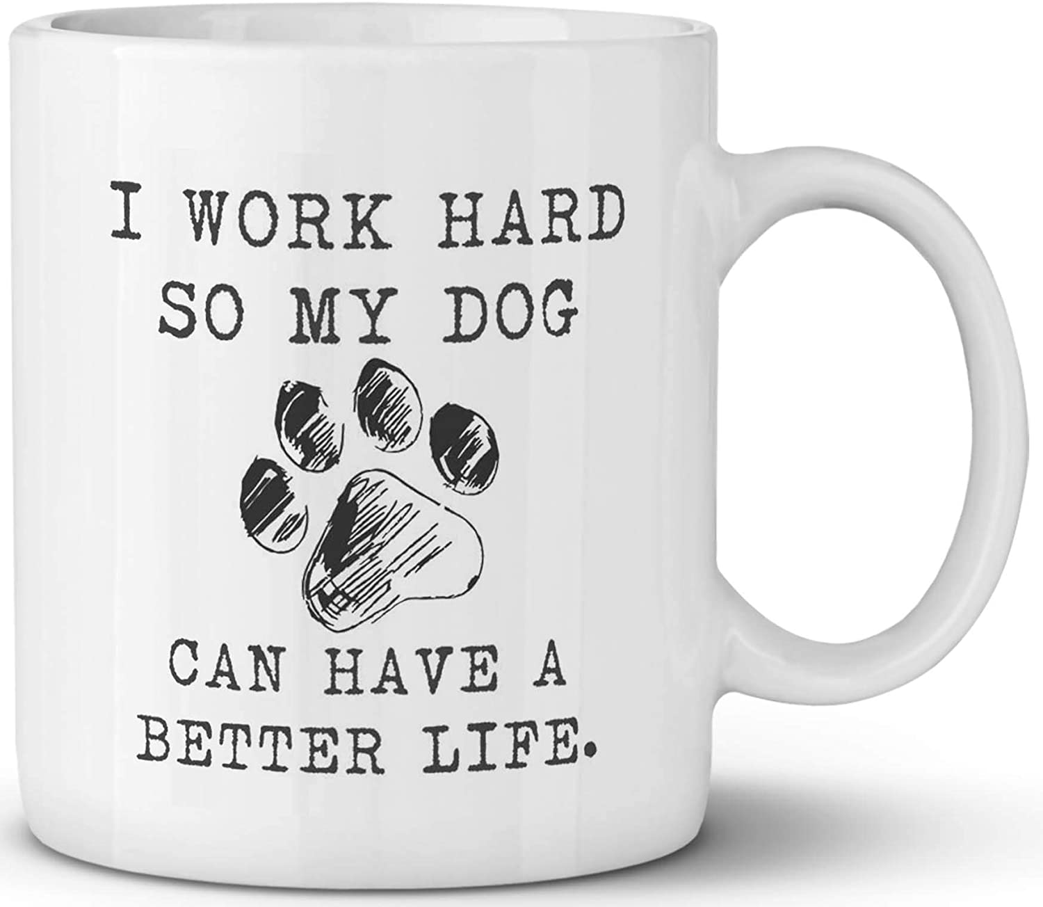 Funny Coffee Mug Best Gifts The Dog Father Top Birthday Gift for Dog Lover - Fun Cool Novelty Mug - 11oz