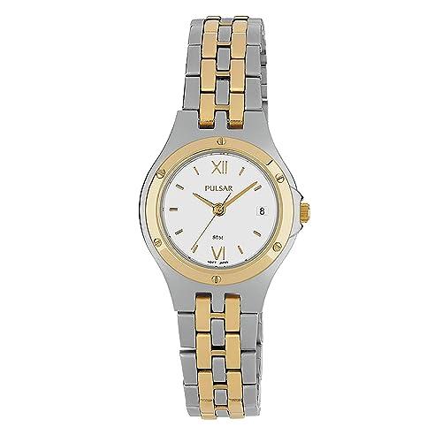 b89098718e68 Seiko Pulsar Reloj Mujer clásico Bicolor PH7390 X 1  Amazon.es  Joyería