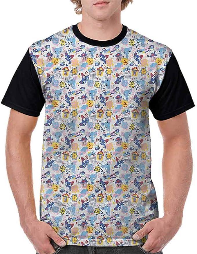 Unisex T-Shirt,Watercolor Spring Garden Art Fashion Personality Customization