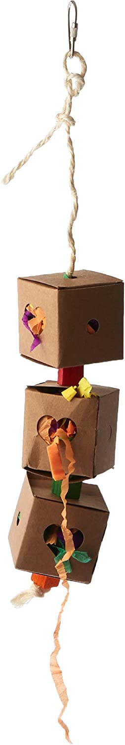Paradise 2 by 19.5-Inch Triple Foraging Box Pet Toy Small