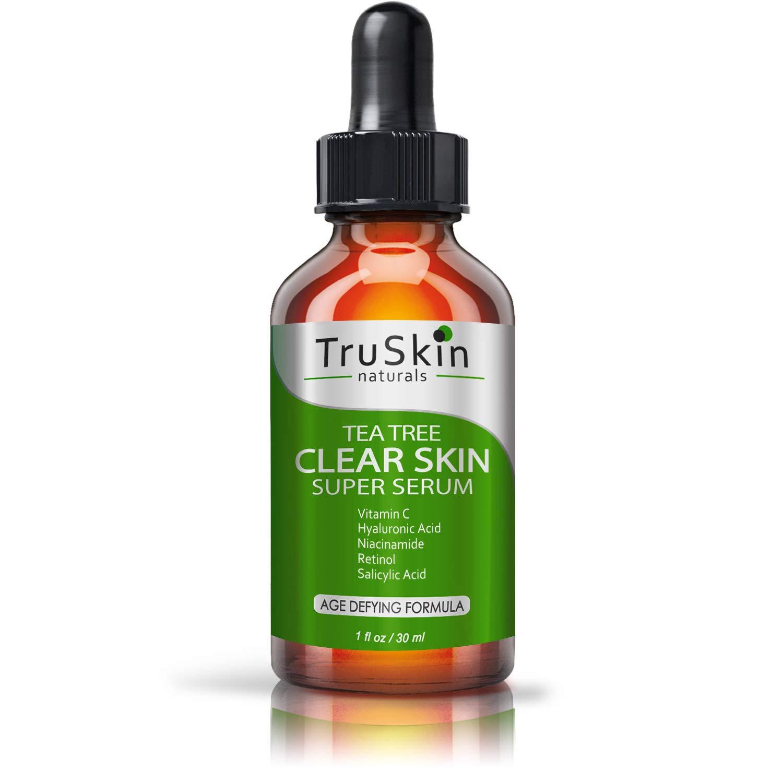 TruSkin Tea Tree Clear Skin Serum with Vitamin C, Salicylic Acid & Retinol, 1fl oz