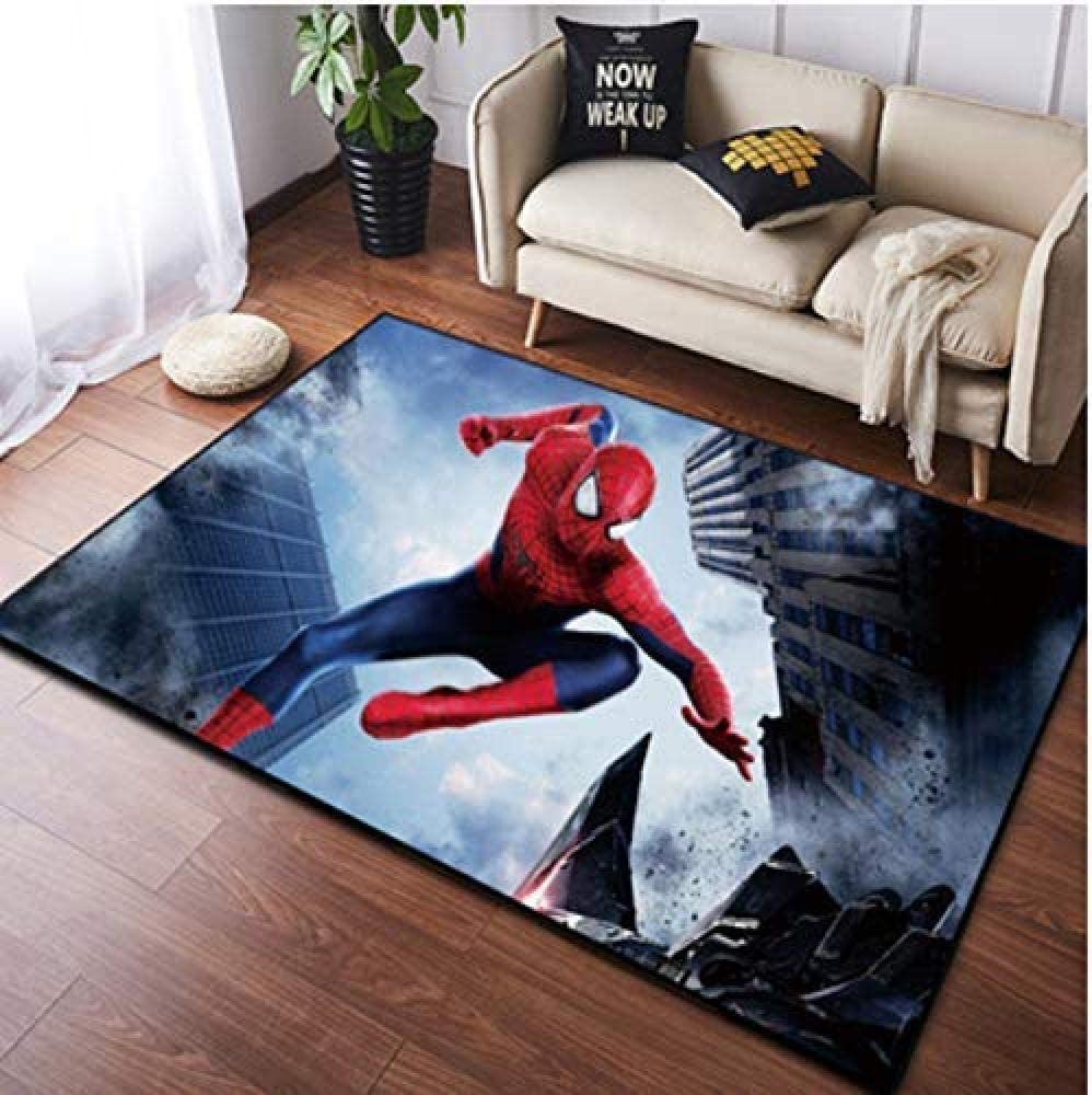 160cm Tengda Kids Rug Endgame Kids Rugs Spiderman Far From Home Bedside Rug Sheepskin Rug Iron Man Captain Thor Hulk Baby Play Mats For Floor Playmat,100