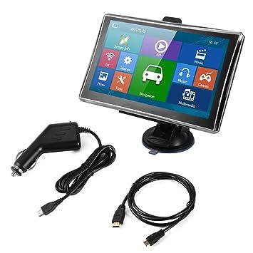 "R XCSOURCE® 7 ""Navegador GPS portátil de coche HD Pantalla táctil 128M 8GB"