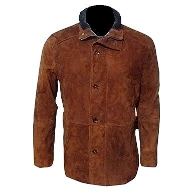 f9de2b774 Longmire Sheriff Walt Robert Taylor Brown Suede Leather Jacket Foe ...