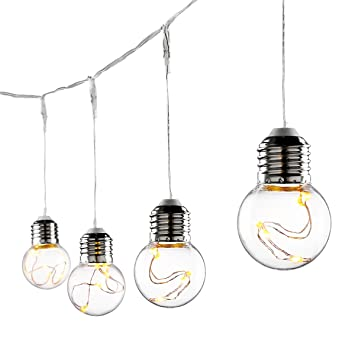 le g45 led globe string lights led bulbs 20ft water resistant indoor outdoor copper wire