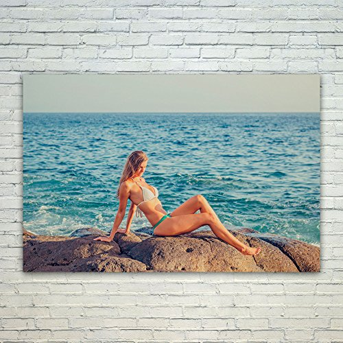 Westlake Art Poster Print Wall Art - Bikini Sea - Modern Picture Photography Home Decor Office Birthday Gift - Unframed - 8x12in