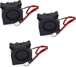 Antrader 4020 40x40x20mm 12V DC Brushless Radial Cooling Turbo Blower Fan for DIY 3D Printer Extruder Humidifier 3-Pack