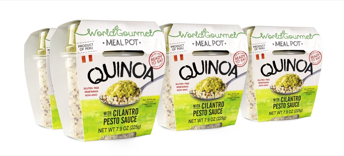 World Gourmet Quinoa Ready To Eat Meal With Cilantro Pesto Sauce (Pack of 6)