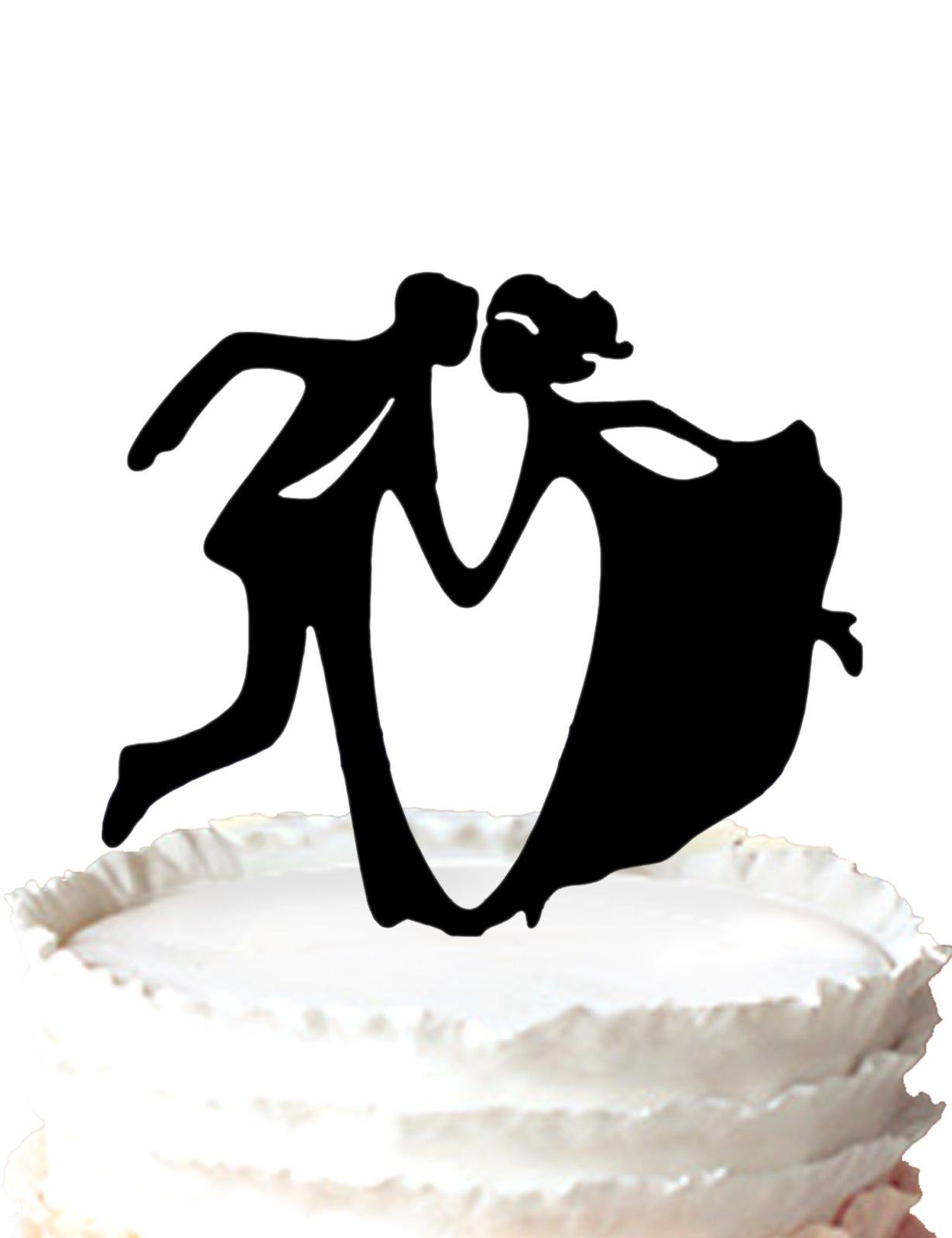 Kaishihui Bride and Groom dacing wedding Cake Topper