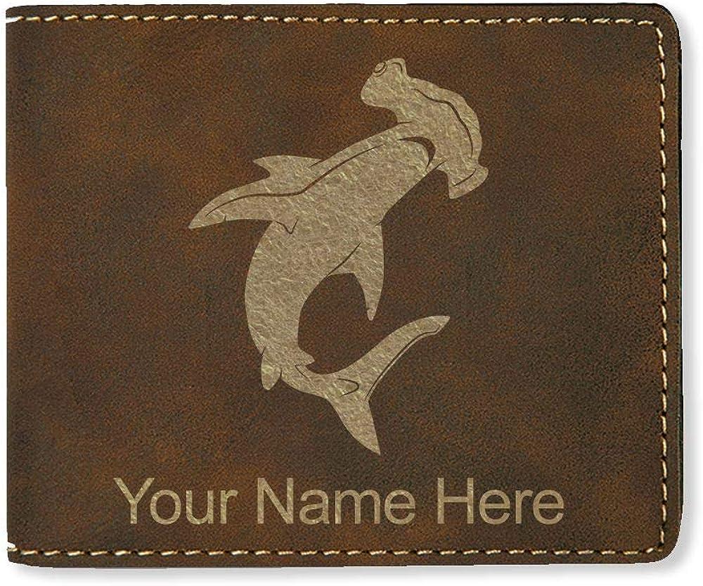 Hammerhead Shark Personalized Engraving Included LaserGram Bi-Fold Wallet