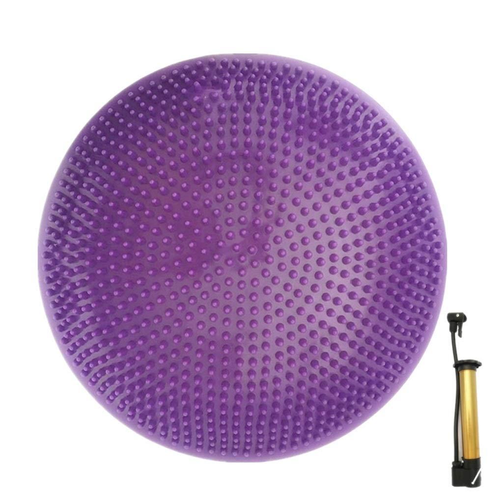 Balance Cushion Air Cushion Massage Cushion Yoga Balance Cushion Padded Explosion-Proof Children Balance Training Ball (Color : Purple)