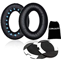CoWalkers almohadillas para orejas de repuesto para auriculares BOSE QuietComfort 2 QC2,Cojines de almohadilla de repuesto compatibles para Bose QuietComfort 2 QC2, QuietComfort 15 QC15, QuietComfort 25 QC25, QuietComfort 35 QC35, SoundTrue, AE2, AE2i, AE2w Auriculares (Negro)