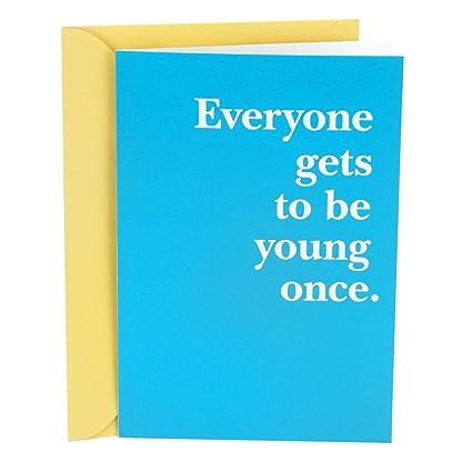 Amazon Hallmark Shoebox Funny Birthday Greeting Card Young