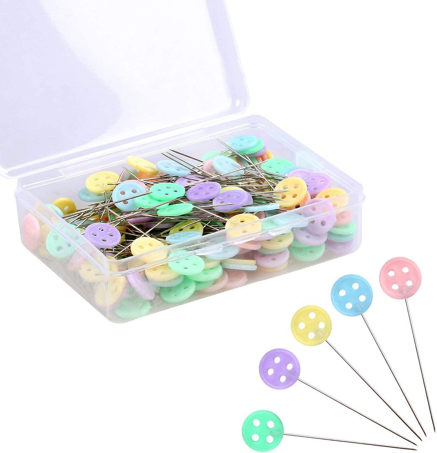 Sewing Pins Sewing Pins for Fabric DIY Sewing Pins Crafts 200 PCS Straight Pins 1.6 in Pearlized Ball Head Pins