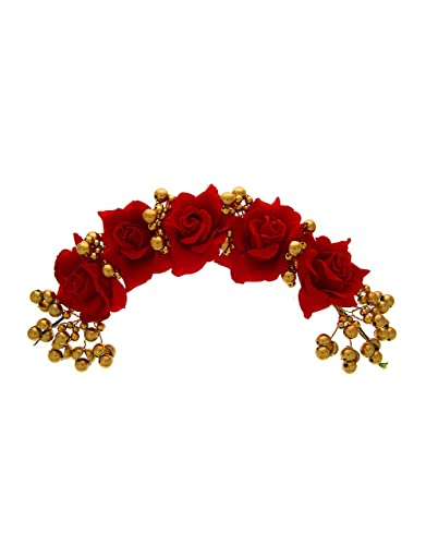 c2f09ca44a Buy Anuradha Art Red Colour Rose Flower Styled 'Hair Gajra' Hair Accessories  for Women/Girls Online at Low Prices in India   Amazon Jewellery Store ...